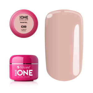 Pastelový UV gél farebný base one 08 light pink 5g