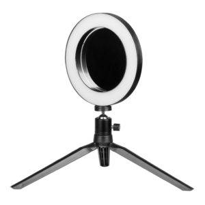 KRUHOVÁ LAMPA LED MINI RING LIGHT 6″ so ZRKADLOM A STOJANOM NA MOBIL